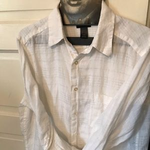 Claiborne linen button down